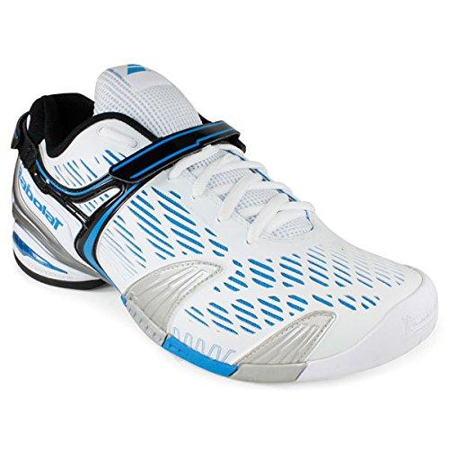 Miesten Kengät 4 Uk11 Propulse Musta Valkoinen Sininen Tennis Hopea Babolat EIZHqw