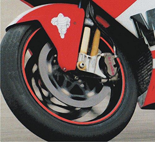 4R Motorrad Felgenb/änder Felgenrandaufkleber Schwarz Reflektierend