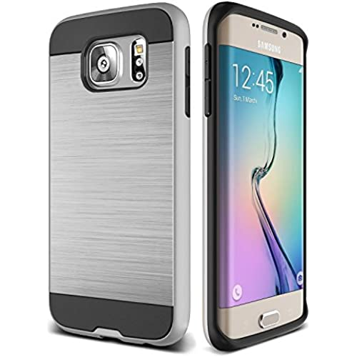 S7 Edge Case, TekSonic Samsung Galaxy S7 Edge Case [Silver] [Brushed Metal Texture] Heavy Duty Full Cover Protection Sales