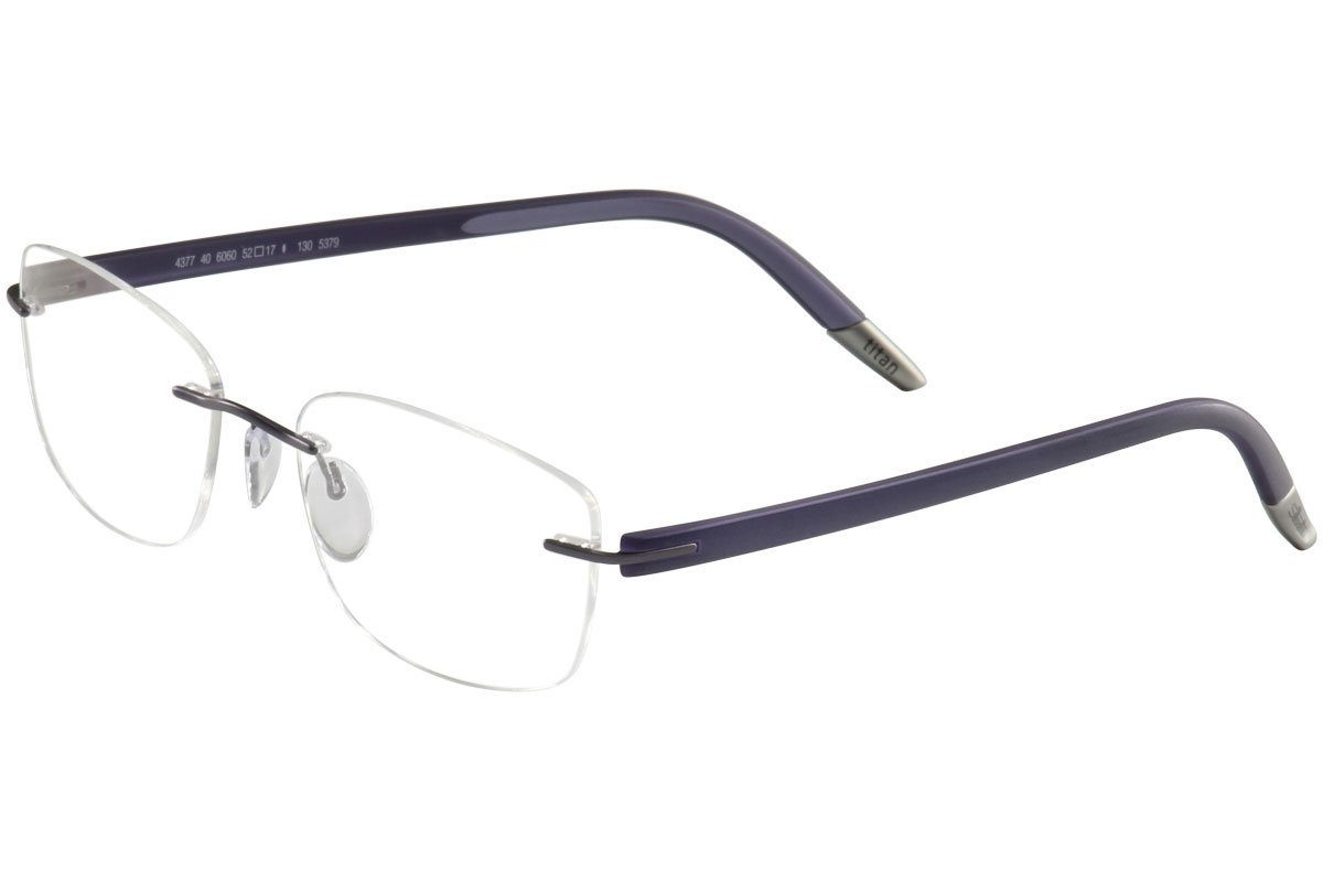 fb6958d2686 Silhouette Eyeglasses SPX Signia Chassis 5379 6060 Violet Optical Frame  17X135mm