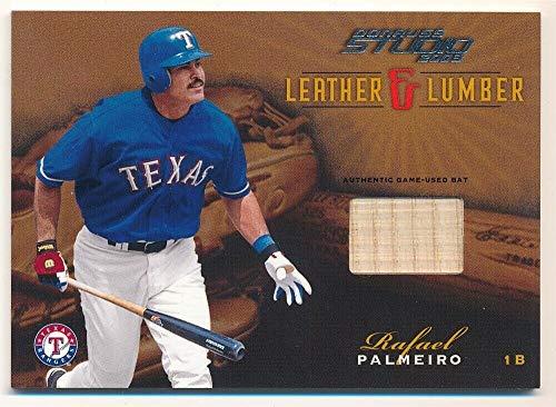 (BIGBOYD SPORTS CARDS Rafael PALMEIRO 2003 Studio Leather & Lumber Rangers Game BAT SP #105/400 F3)