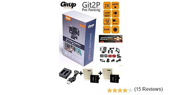 Camara GITUP GIT2P Pro Edition + Cargador Doble + 2 BATERIAS Extra: Amazon.es: Electrónica
