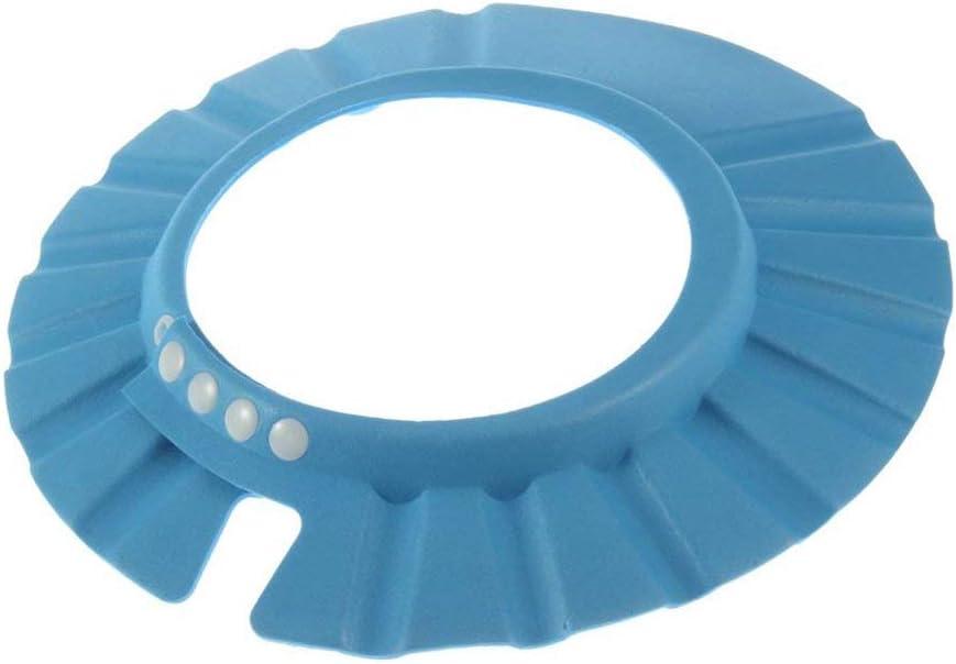 blau Kleinkinder Kinder DDG EDMMS Leakproof Babydusche Visier Sicherheits Shampoo Duschgel Badeschutz Duschhaube weich verstellbare Sonnenblende geeignet f/ür Babys