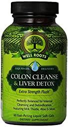 Well Roots Colon Cleanse and Liver Detox Supplement, 60 Ct (2 Pack)