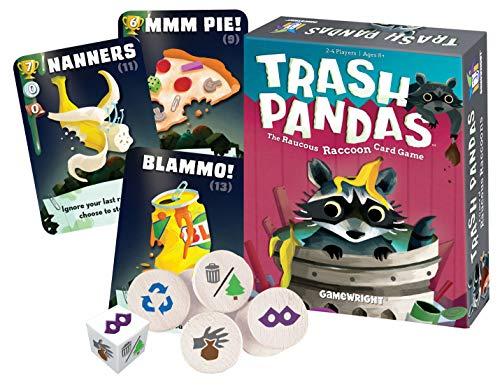 Gamewright  Trash Pandas - The Raucous Raccoon Card Game - 252 (The City Card Game)