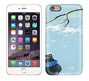 Best Power(Tm) HD Colorful Painted Watercolor Cat Illustration In Blue Hard Phone Case For Iphone 6
