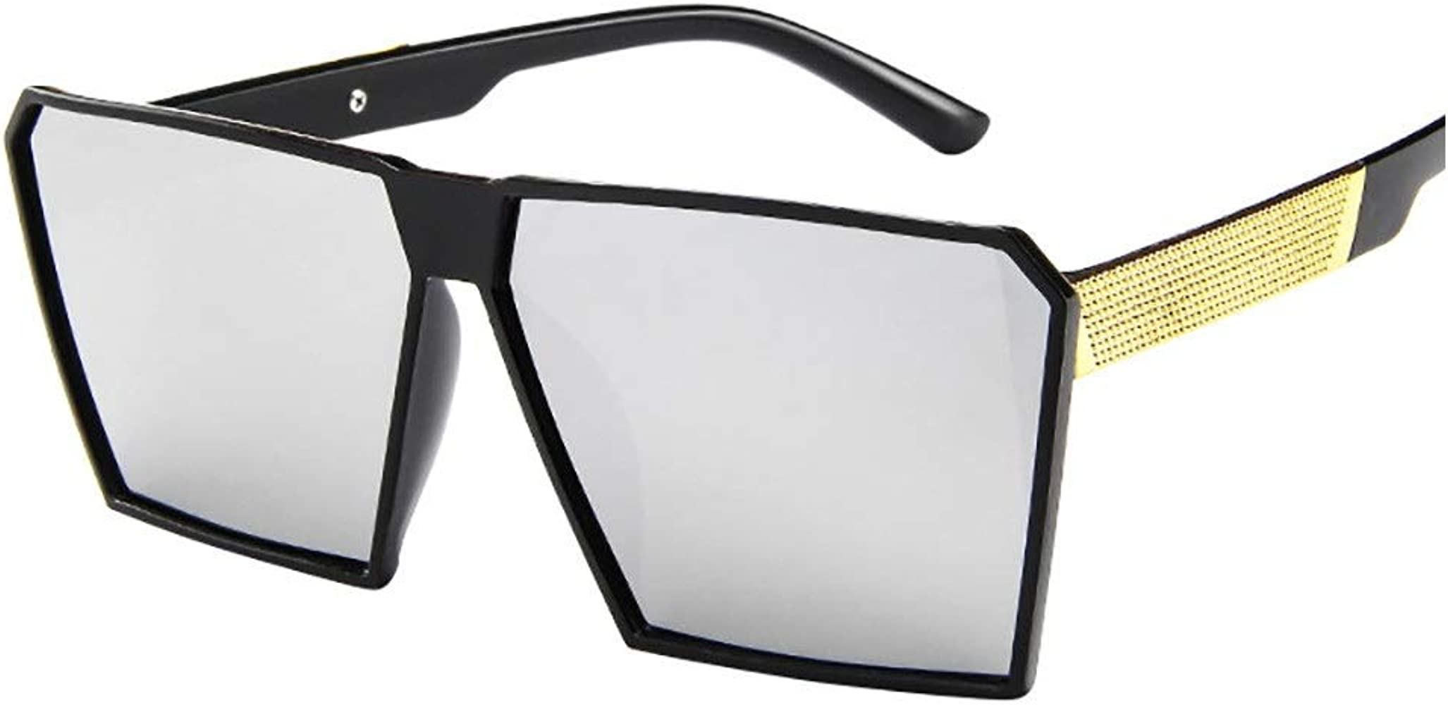 Vintage Mens Oversized Square Frame Gradient Sunglasses Outdoor Eyewear Shades