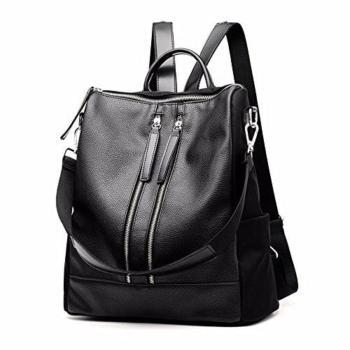 MSZYZ Bolsa para llevar al hombro, la participación de la mujer en la bolsa, mochila, los hombros de las mujeres, la moda señoras, bolsas,negro casual.