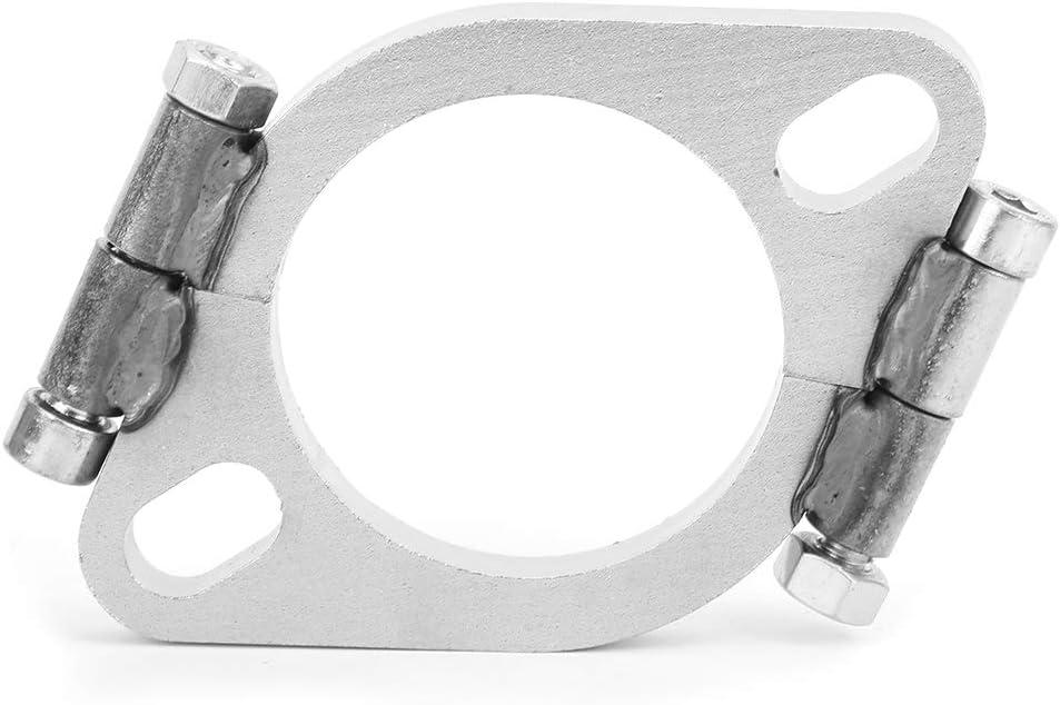 Brida de escape de acero inoxidable, accesorio de repuesto de reparación de reparación dividida ovalada plana de 2,5 pulgadas y 63 mm