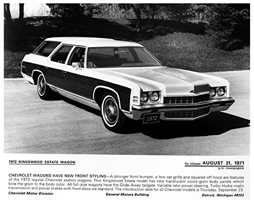 1972 Chevrolet Kingswood Station Wagon Factory Photo Chevrolet Kingswood Wagon