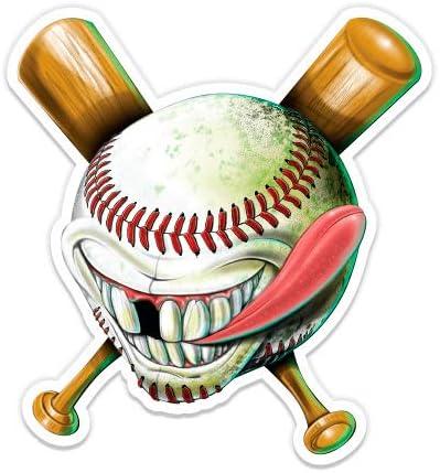 Vinyl Sticker Waterproof Decal GT Graphics Crazy Baseball