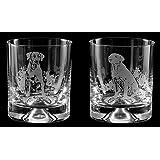 LABRADOR RETRIEVER Whisky Tumbler Glasses (Boxed Pair) *Dog Gift*