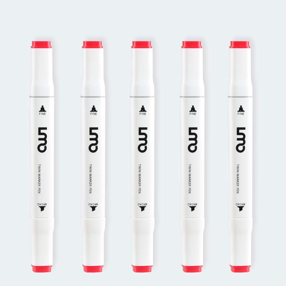 40 Colors Artist Necessary Graphic Marker Pen Animation Design for Drawing Coloring Highlighting and Underlining
