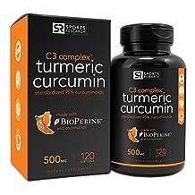 Turmeric Curcumin C3® Complex 500mg, Enhanced with Bioperine (Black Pepper) & Organic Coconut Oil for Better Absorption; Non-GMO & Gluten Free - 120 Liquid Softgels