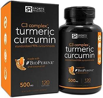 Sports Research Turmeric Curcumin Complex 500mg Oil 120 Gels