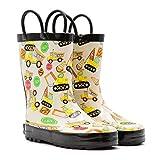 Mucky Wear Children's Rubber Rain Boot, Construction, 6T US Toddler
