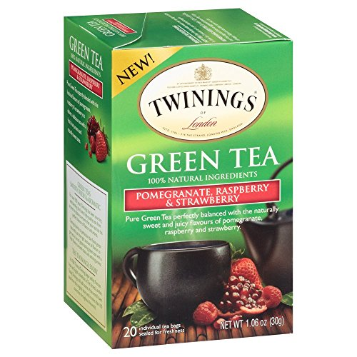 (Twinings Green, Pomegranate, Raspberry, and Strawberry Bagged Tea, 80 Count (Pack of 4))