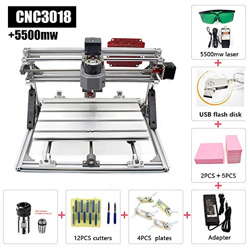 2 in 1 CNC Cutting and Engraving Machine GRBL Control Class 4 Desktop CNC3018 for Wood, Acrylic & PVC. Made for Small Business and Creative Talents
