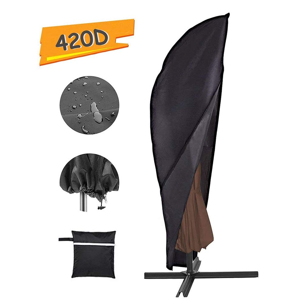 JLXJ Outdoor Waterproof UV-Resistant Umbrellas Cover, Cantilever Parasol for Garden Patio Offset Market (Size : 104X39 in) by JLXJ