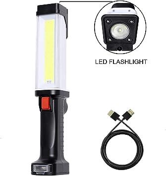 COB LED Auto Repair Light Flashlight Torch Travel Super Bright Camping Lights