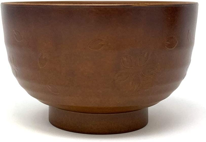 Set of 4 Lightweight Decorative Bowls Must-Have Japanese Kitchen Gadget Made in Japan Asian Style Wooden Serving Bowl for Rice Soup Noodle Snack Ice Cream Cereal /& More 13.5 oz KD Home Miso Bowls