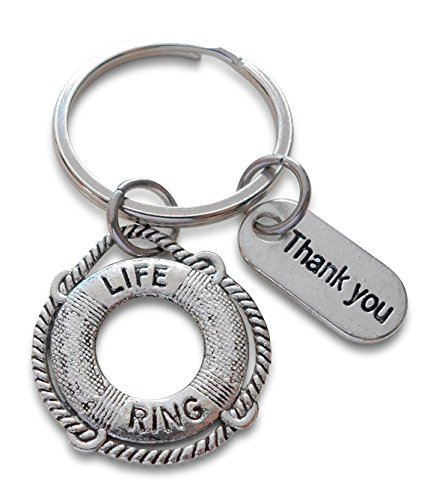 Lifesaver Keychain & Thank you Tag, Appreciation Gift, You've Been a Lifesaver