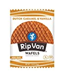 Rip Van Wafels Non-GMO Snack Wafels, Dutch Caramel & Vanilla, 12 Count, Low Calorie & Low Sugar