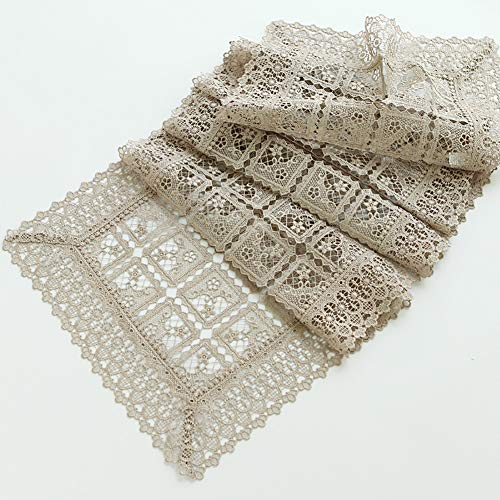The Openwork Lace Table Runner Can Be Placed