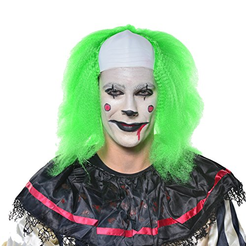 Halloween Cosplay Scary Clown Killer Costume IT Green Party Wig H0528 -