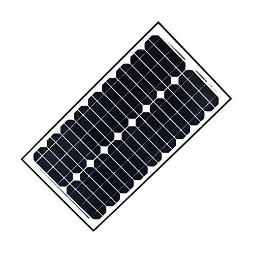 ALEKO® 30W 30-Watt Monocrystalline Solar Panel