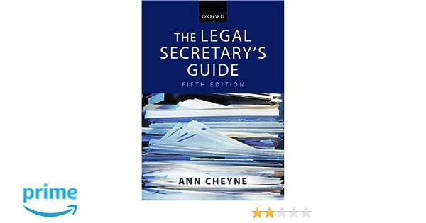 amazon com the legal secretary s guide 9780199268405 ann cheyne rh amazon com legal secretary study guide legal secretary guide to nm district court