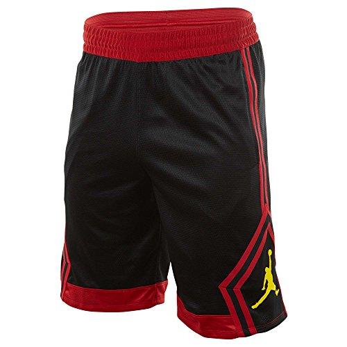 NIKE Men's Jordan Rise Diamond Basketball Shorts Black/Red (X-Large) ()