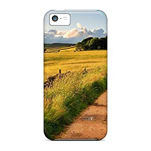 [VeHWfpy447AESeq]premium Phone Case For Iphone 5c/ Dirt Road To A Lovely Farm Tpu Case Cover