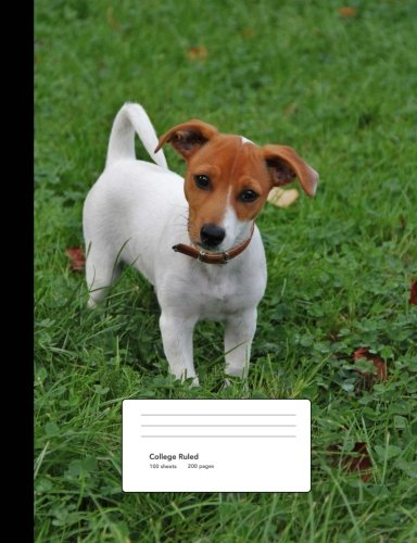 Jack Russell Terrier Puppy Composition Book College Ruled: Notebook 200 pages, 100 (Terrier Mix Puppy)
