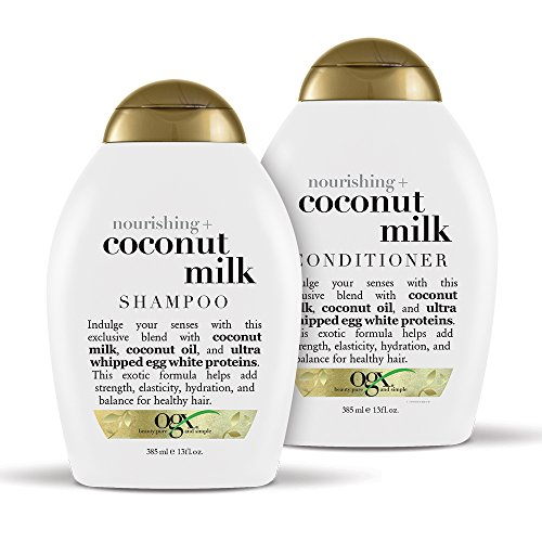 OGX Nourishing + Coconut Milk Shampoo & Conditioner Set, 13 Ounce