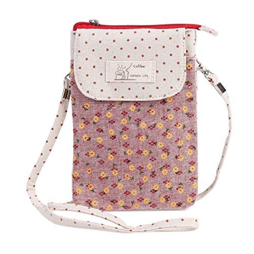 Phone pink Flap Strap Grey Detachable Womens Damara Magnet Pouch 8fwxqqXzW