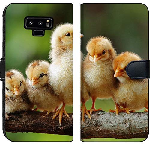 Samsung Galaxy Note 9 Flip Fabric Wallet Case Group Portrait of Cute Chicks Image 15252574 Customized Tablemats Stain Resistance ()