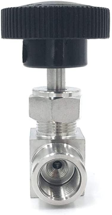 Specification : 3//8 YINGJUN Valves 1//8 1//4 3//8 1//2 Inch BSP Equal Female Thread SS 304 Stainless Steel Flow Control Shut Off Needle Valve
