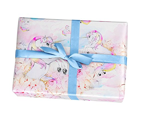 Unicorn wrapping paper sheets  10 pack of 11x17 wrapping paper sheets  For girls birthday party baby shower supplies decorations  Made in the USA