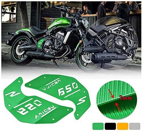 Fatexpress Motorrad Cnc Aluminium Dekoration Motor Seitenabdeckplatte Für Kawasaki Vulcan S Abs Vn En 650 En650 2015 2016 2017 2018 2019 Motorradzubehör Teile 15 19 Grün Auto