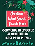 Christmas Word Search Puzzle Book: 40 Large Print