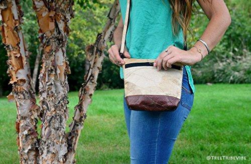 Adjustable Bags Tribe Handmade Womens Leaf Natural Leather Shoulder Bag Crossbody Strap Tree zTq4Bx4