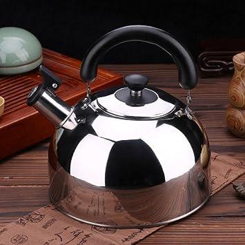 Silbante tetera hervidor de agua 3 Quart tetera té de acero inoxidable eléctrica para eléctricas o