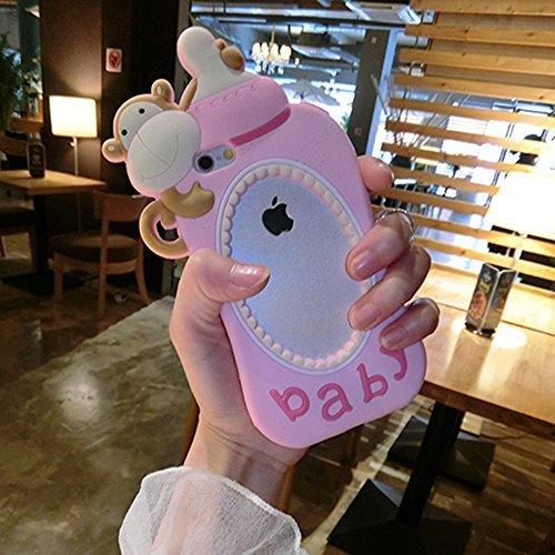 iPhone 6 6s Case,Creative Cute Soft Silicone Stylish Monkey Baby