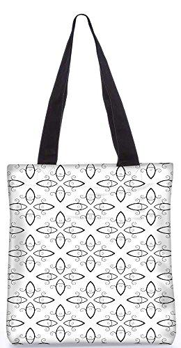 """Snoogg Abstrakte Weiße Muster-Einkaufstasche 13,5 X 15 In """"Shopping-Dienstprogramm Tragetasche Aus Polyester Canvas"""