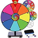"""Prize Wheel 12"""" Dry Erase Game for Fundraisers, Loud Clacker, True Motion, Metal Pegs, Rainbow Unicorn Gift Idea Unique Game for Kids - Tabletop Wheel Spinner for School Party Event Casino, 12 inch"""