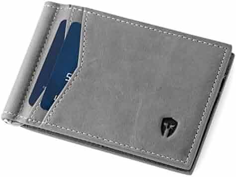 Bryker Hyde RFID Blocking Bifold Slim Quick Draw Minimalist Front Pocket Wallet, Includes Money Clip, ID Holder, 9 Slots, Secure Credit Card Holder, Identity Theft