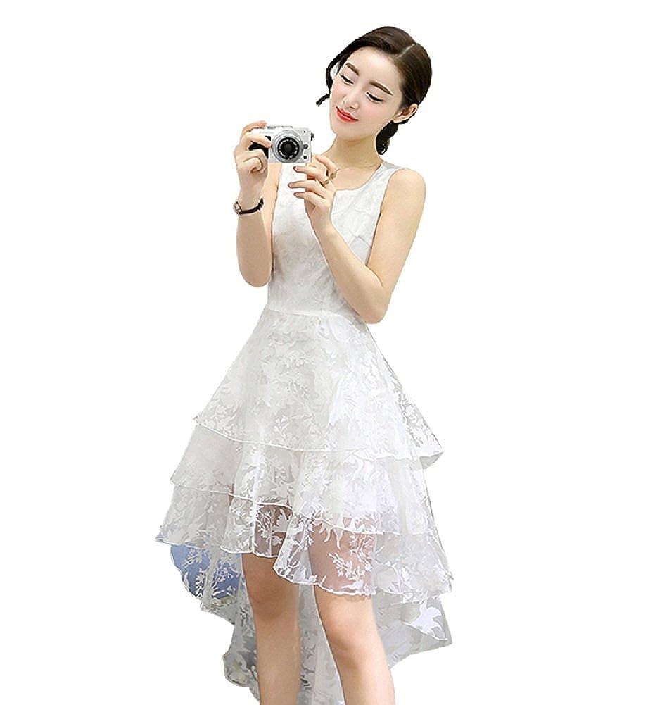 BOMOVO Mujer Verano sin mango Vintage Rockabilly estilo de vestido de fiesta para vestido de novia Swing blanco S : Amazon.es: Ropa y accesorios