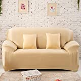 Forcheer Stretch Sofa Slipcovers Reversible Loveseat Couch Furniture Protector 2 Seater Sofa Cover (Loveseat ,Beige)