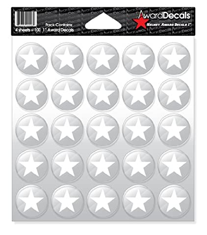 Award Decals Star (White on Clear)